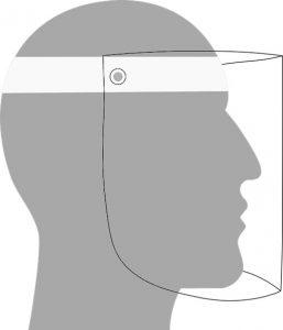 Masque visière de protection contre le coronavirus fait avec une imprimante 3d